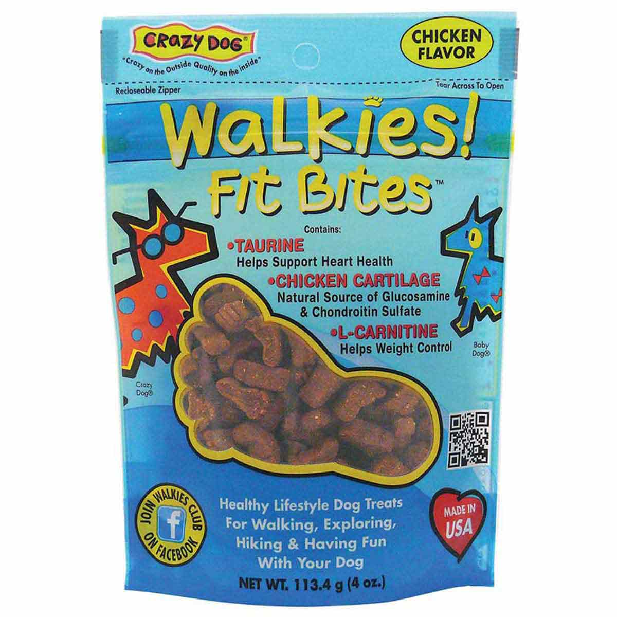 Crazy Dog Walkies! Fit Bites Chicken Treats - 4 ounces
