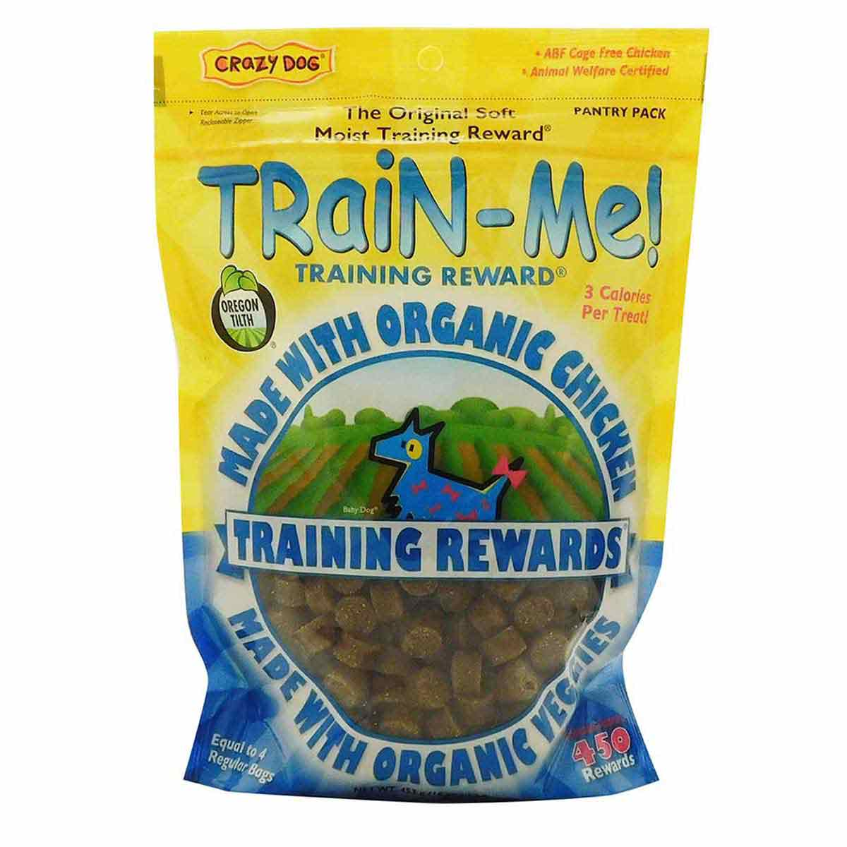 1 lb Crazy Dog Organic Train-Me! Treats - Chicken