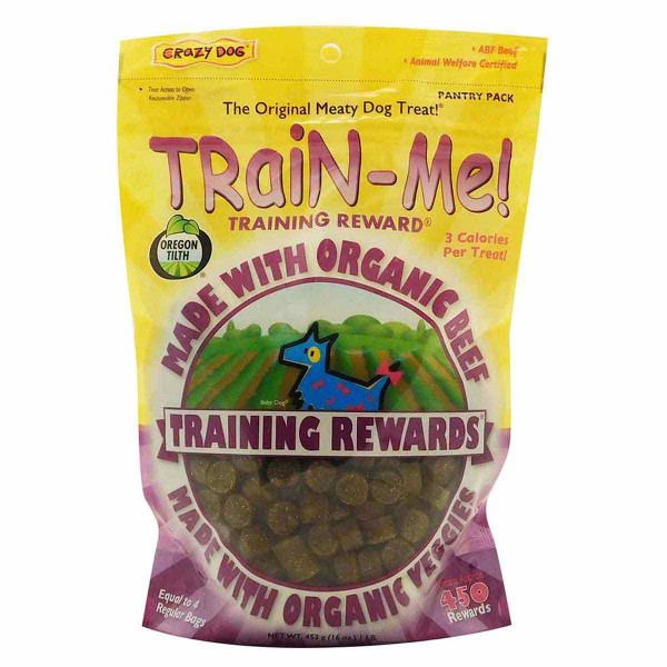 1 lb Beef Crazy Dog Organic Train-Me! Treats for Dogs