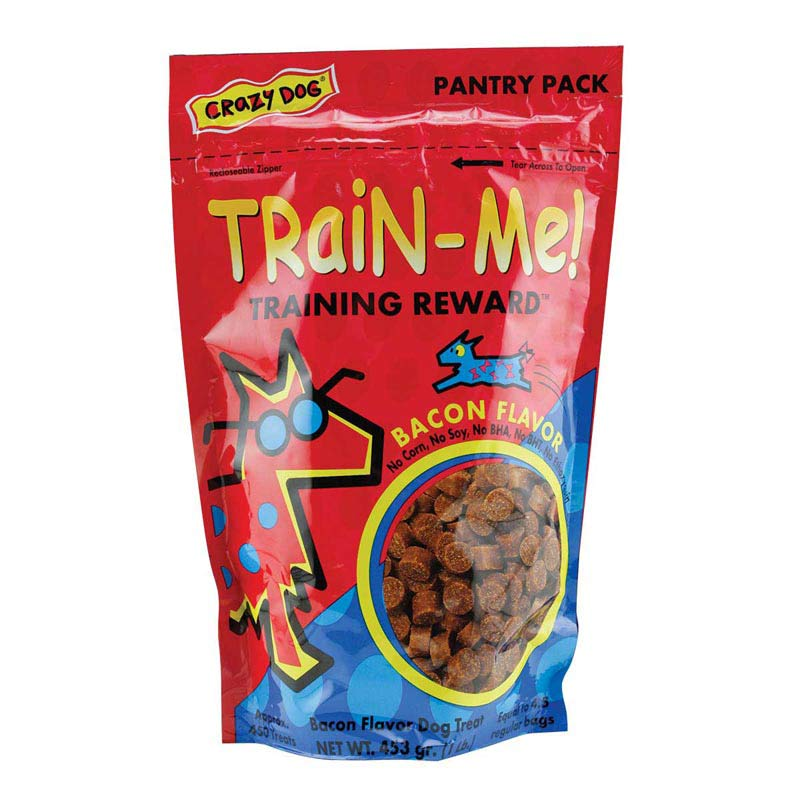 Crazy Dog Train Me! Organic Dog Treats - Bacon Flavor - 1 lb
