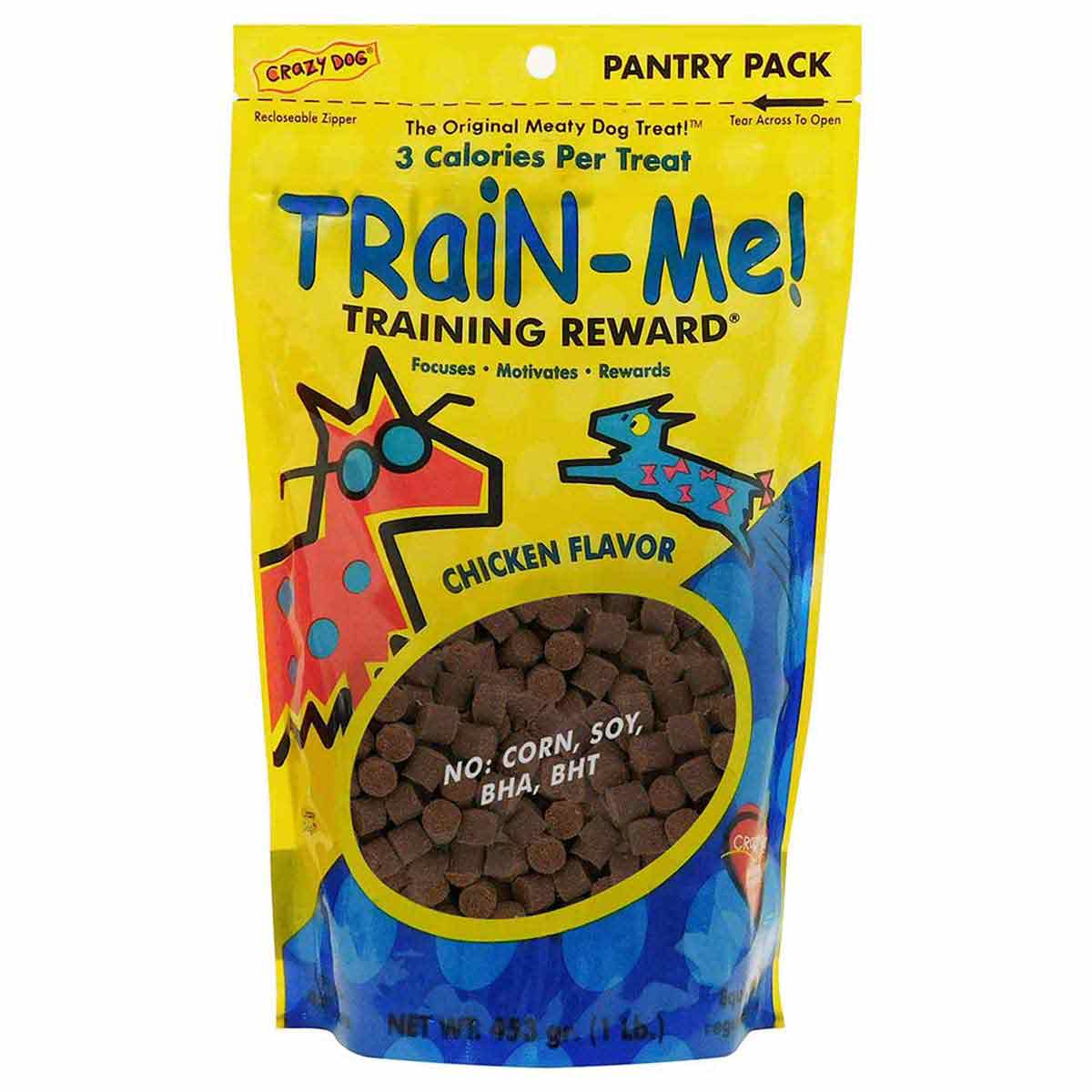 Crazy Dog Train Me! Treats for Dogs - Chicken 1 lb