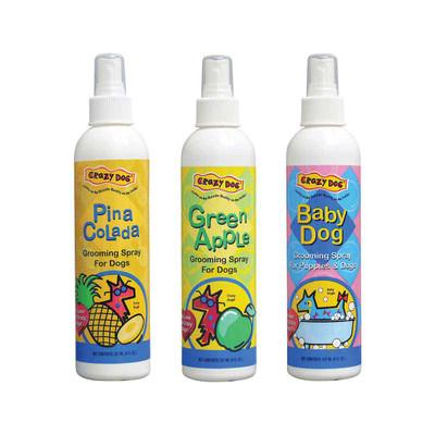 Crazy Dog Grooming Sprays - Pina Colada, Green Apple, Baby Dog