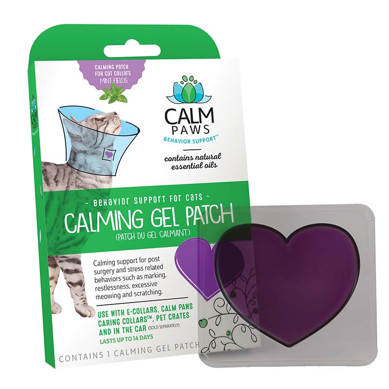 Front of Box for Calm Paws Calming Gel Patch for Cats
