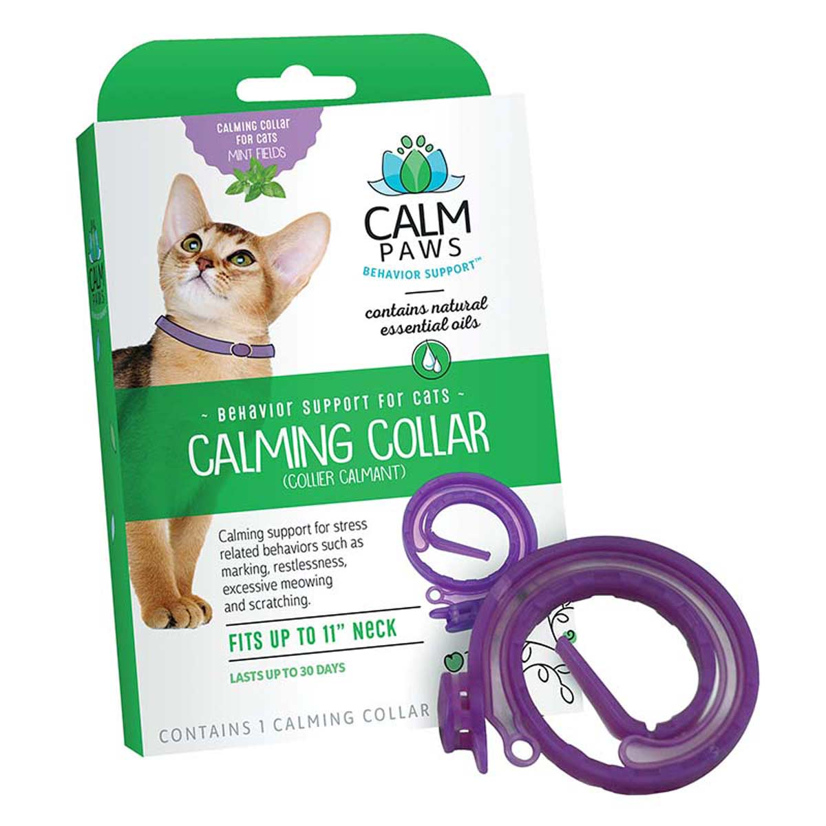 Calm Paws Calming Collar for Cats in Box