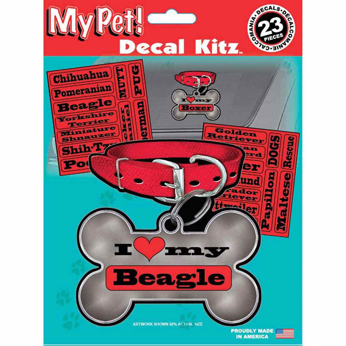 I Love My Pet Dog Decal Sticker Kit