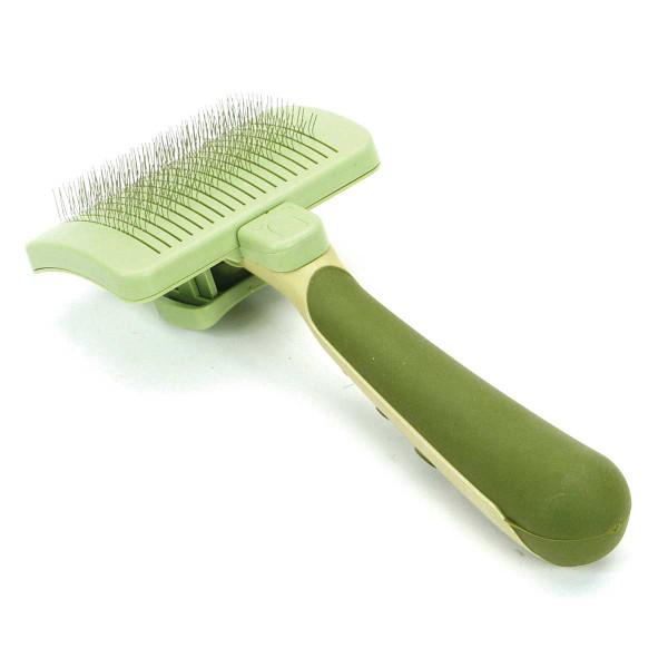 Medium Safari Self Cleaning Slicker Hairbrush for Pet Grooming