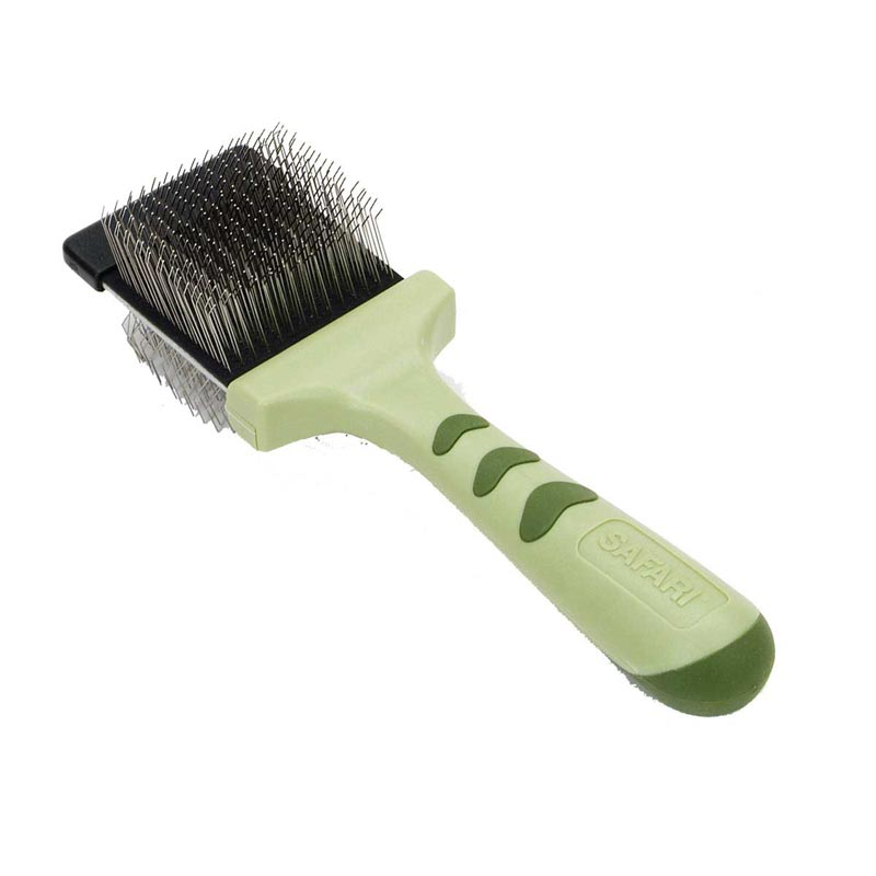 Double Sided Hairbrush - Safari Flexible Slicker For Small Dogs