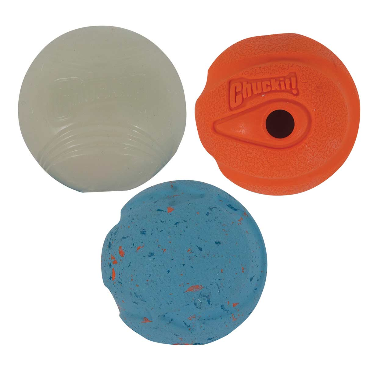 Chuckit! Medley Ball Set Small 3 Pack - Blue, Orange and White