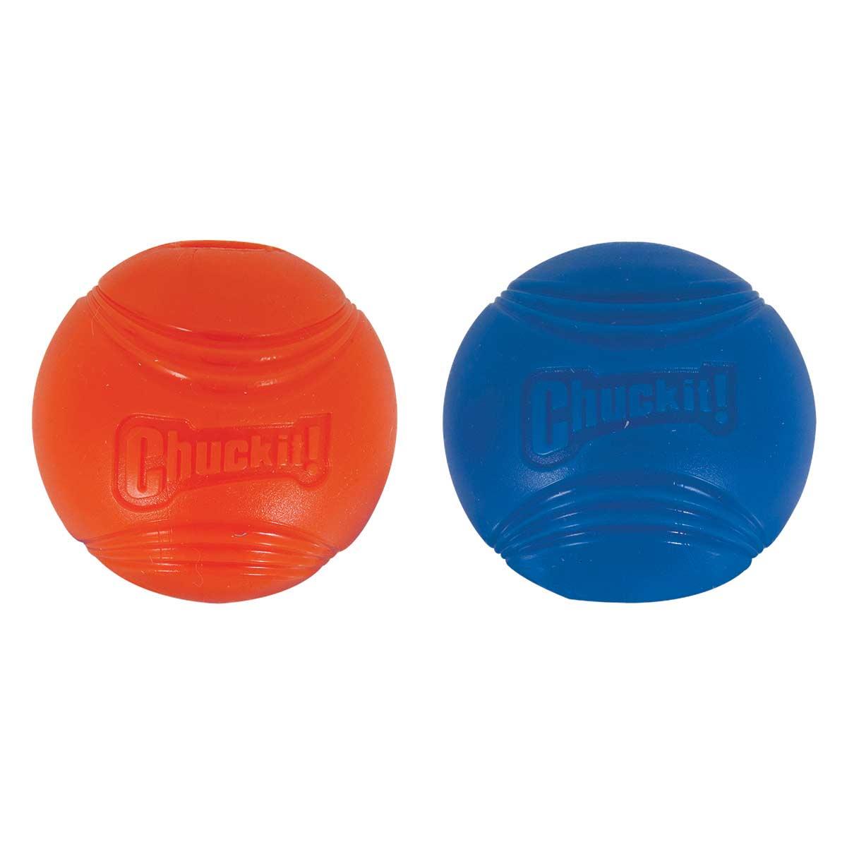 Chuckit! Strato Ball 2 Pack Medium - Blue Ball, Orange Ball