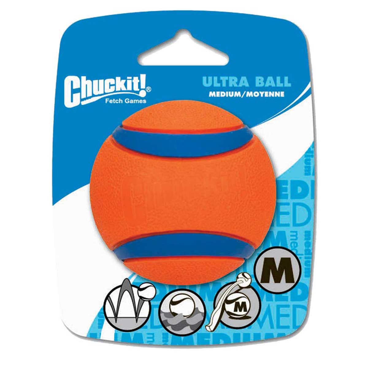 Chuckit! Ultra Ball Medium in the packaging
