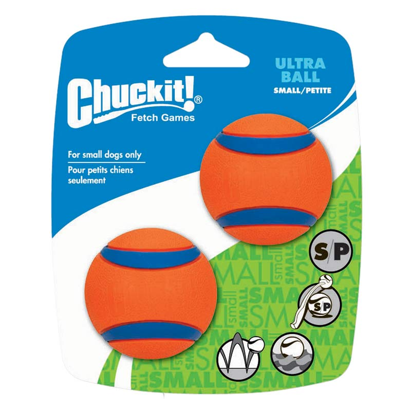 Chuckit! Ultra Ball Small 2 Pack in the Packaging
