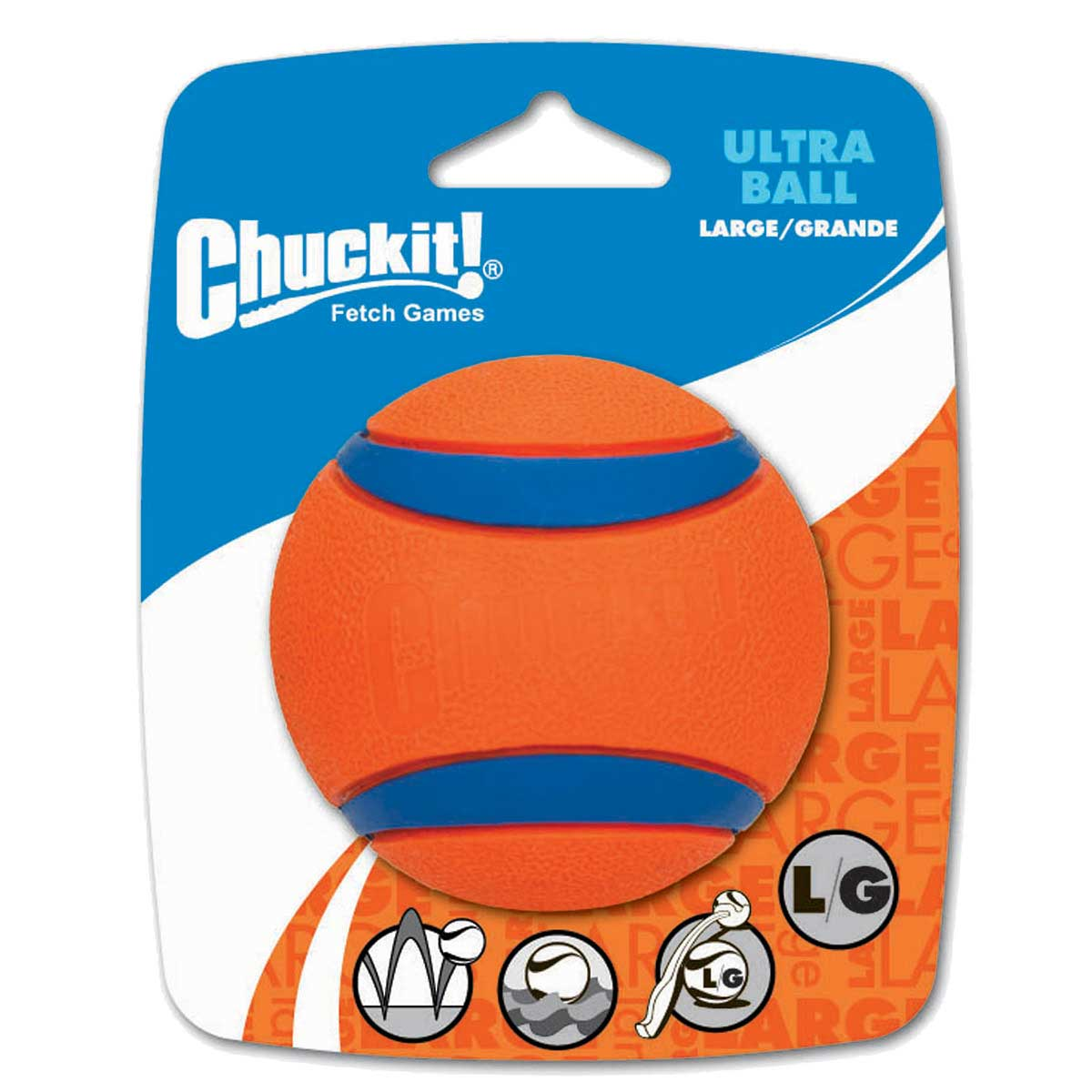 Chuckit! Ultra Ball Large 1 Pack in packaging