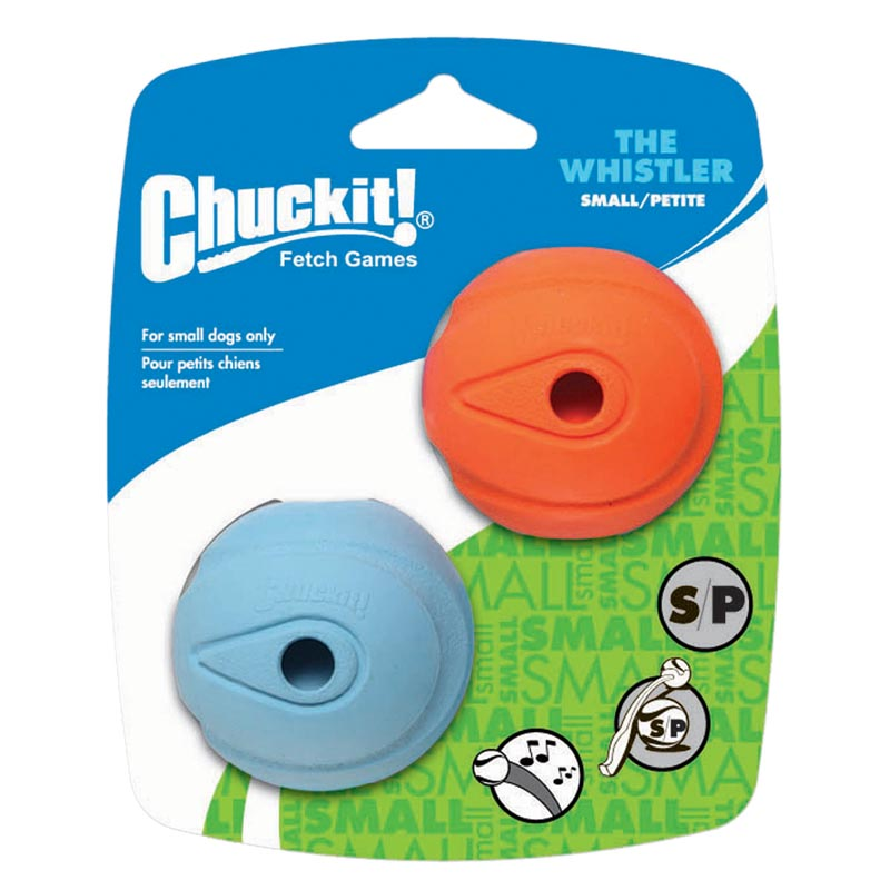 Chuckit! Whistler Ball Small 2 Pack for Small Dogs