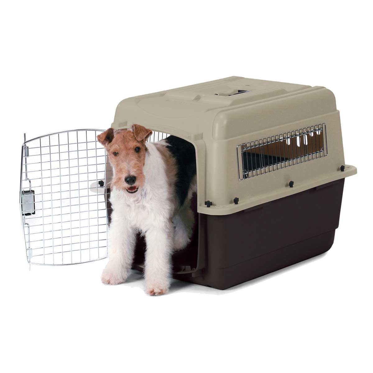 Taupe/Black Petmate Ultra Vari Kennel for Medium Dogs