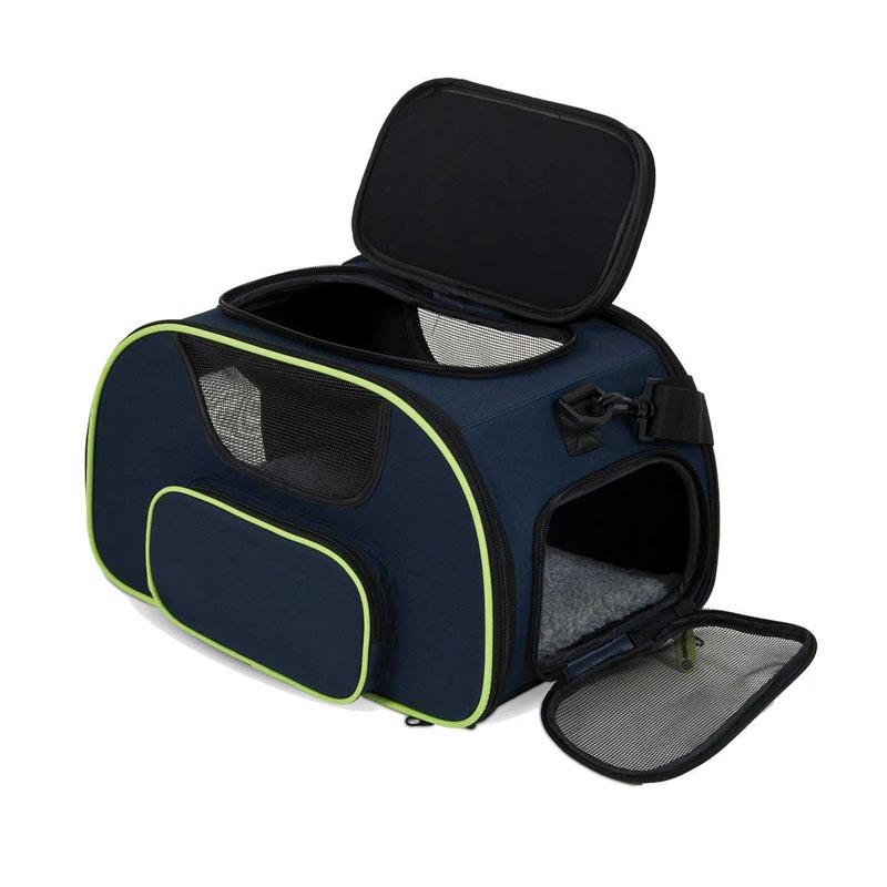 Petmate See & Fly Carrier for Small Dogs - Opened and Unzipped