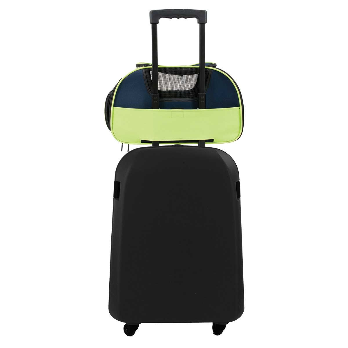 Petmate See & Fly Carrier on top of Suitcase