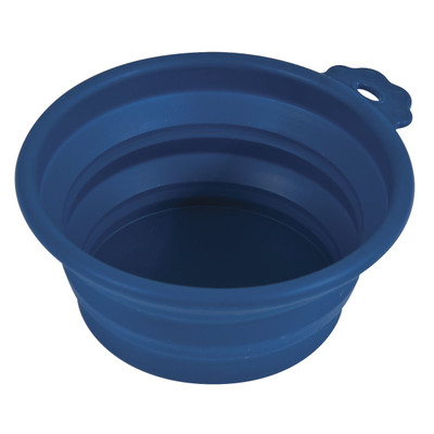 Blue Petmate 1.5 Cup Collapsible Silicone Travel Bowl
