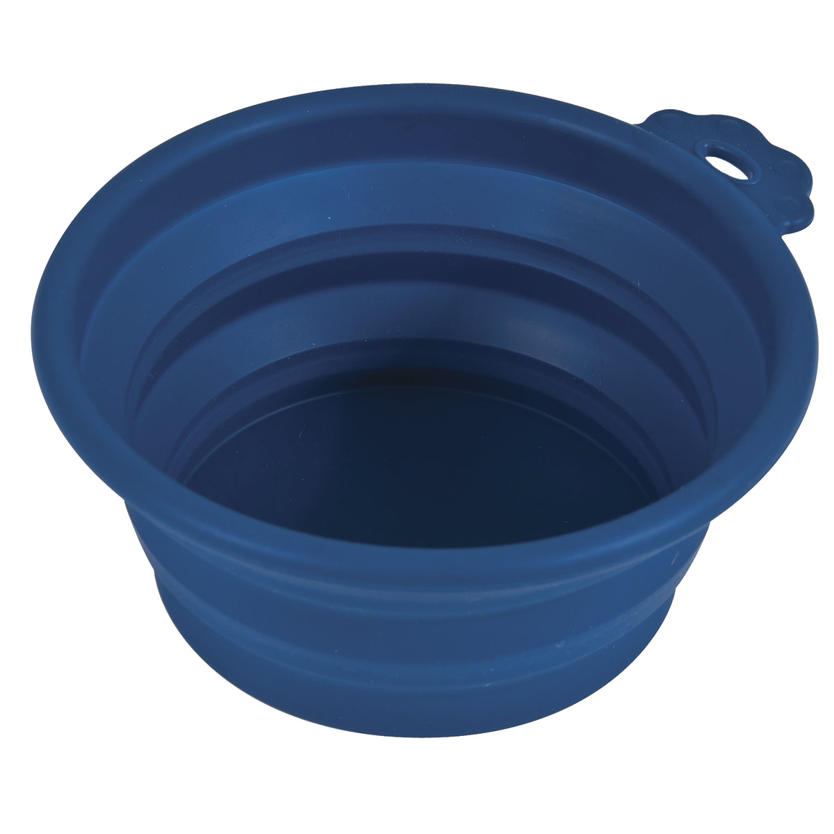 Blue Petmate 3 Cup Collapsible Silicone Travel Bowl for Dogs