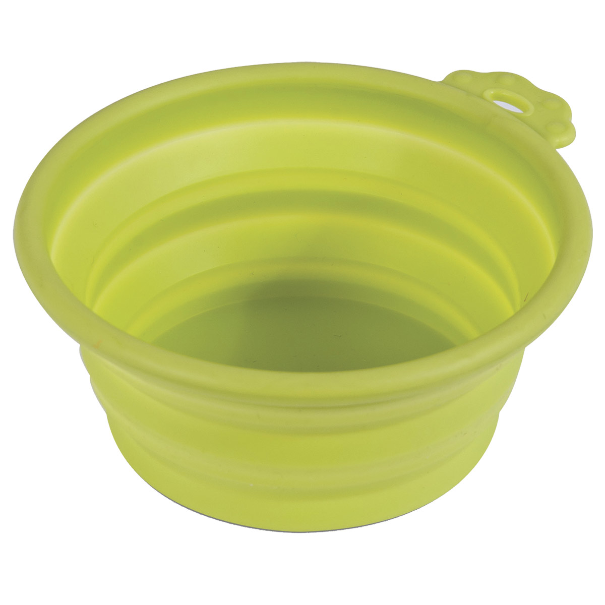 Lime Green Petmate 3 Cup Collapsible Silicone Travel Bowl for Dogs
