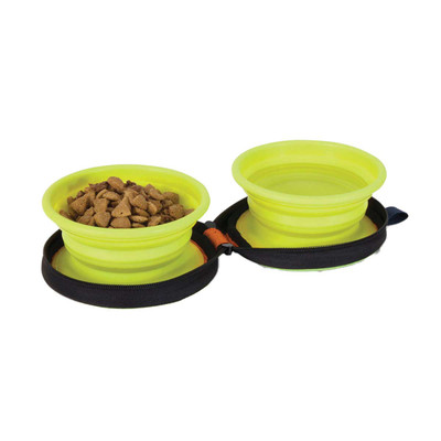 Petmate Silicone Travel Bowl Duo - Holds 1.5 Cup