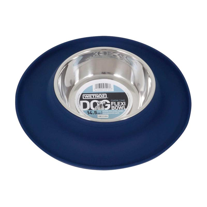 14.5 ounce Indigo Wetnoz Flexi Bowl for Dogs