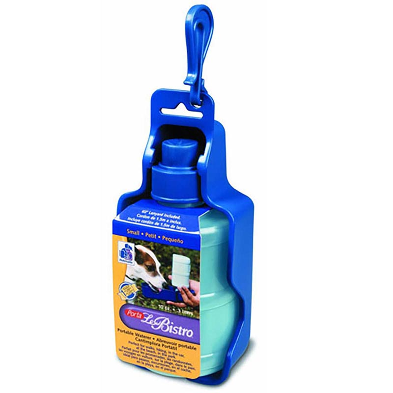 Petmate Porta Le Bistro Waterer Small - Traveling Dog Water Bowl
