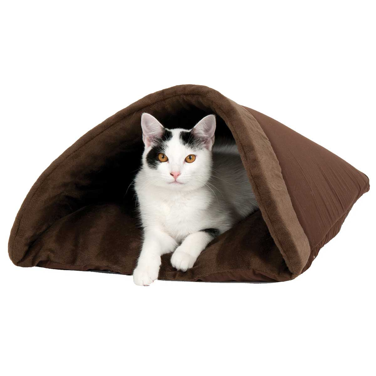 Brown Aspen Pet Kitty Cave 19 inch available at Ryan's Pet Supplies