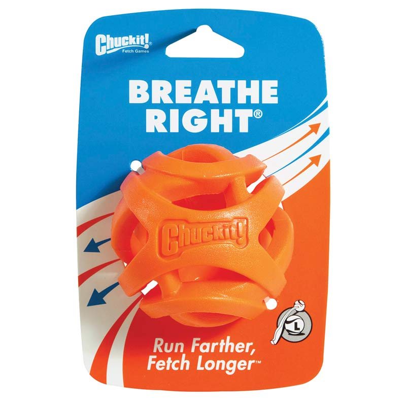 Large Petmate Chuck It! Breath Right Fetch Ball - in Packaging