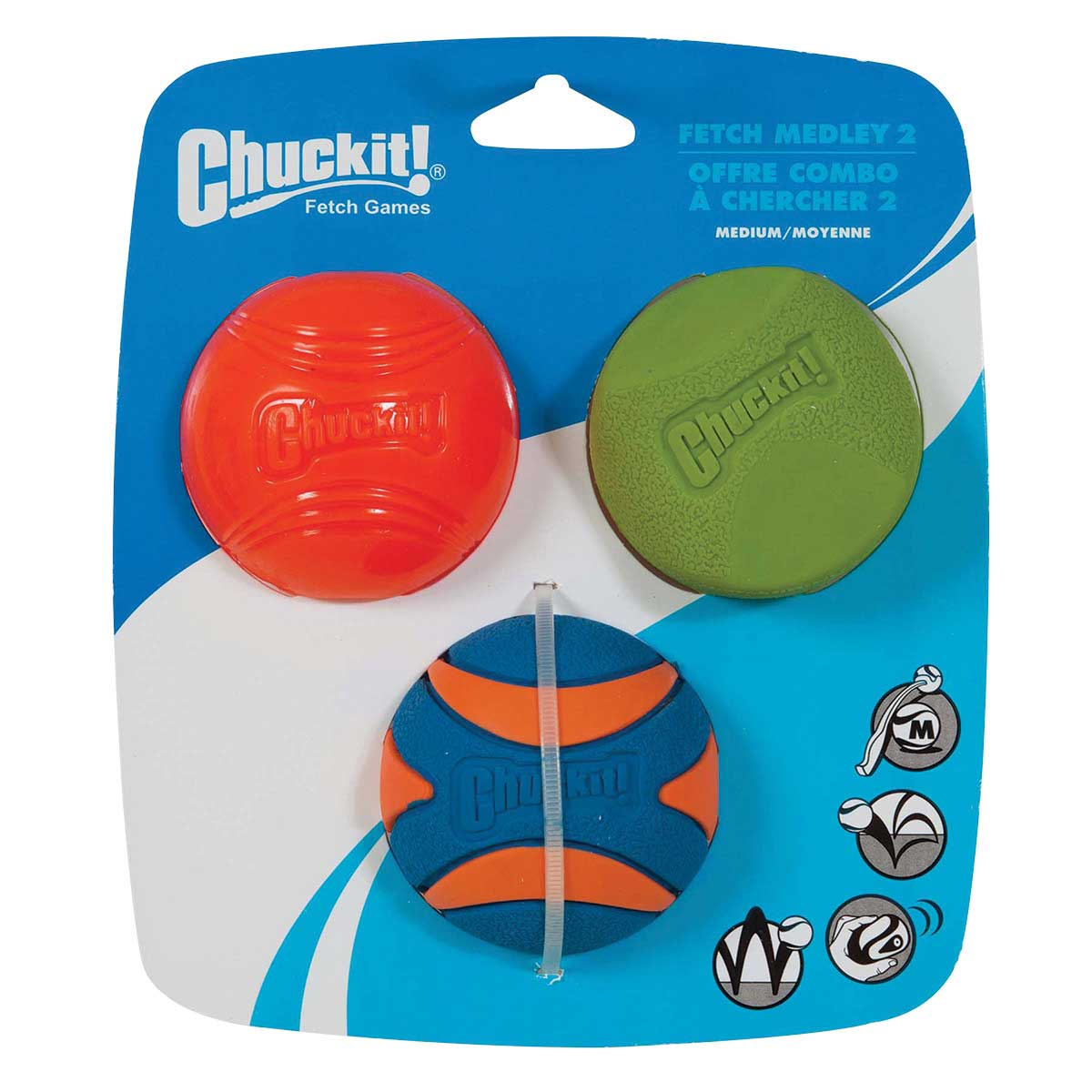 Chuckit! Medley Ball Set - Medium Size - Includes three Balls