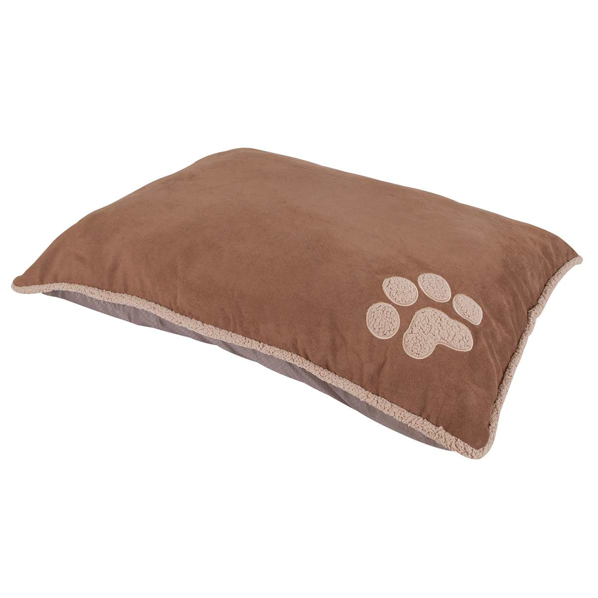 Aspen Pet Shearling Edge Pillow Bed Tan/Brown - 27 inches by 36 inches