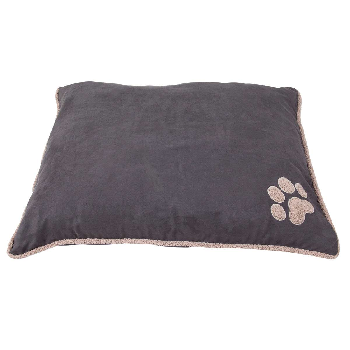 Aspen Pet Shearling Edge Pillow Bed Gray - 27 inches by 36 inches