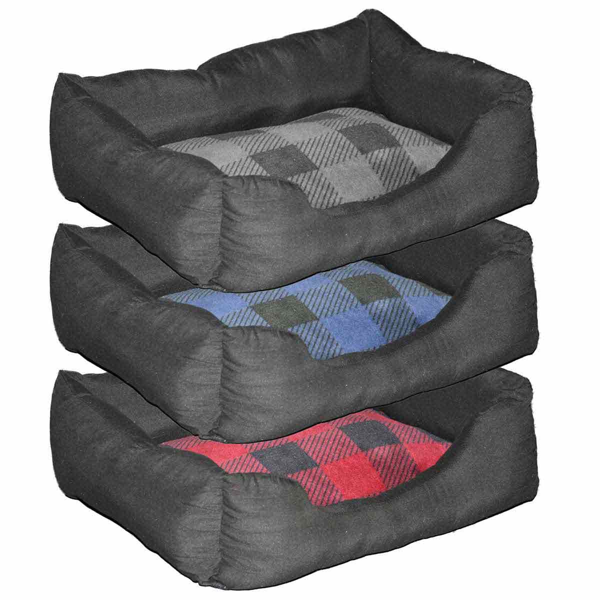 Aspen Pet Buffalo Plaid Dog Bed 20 x 15