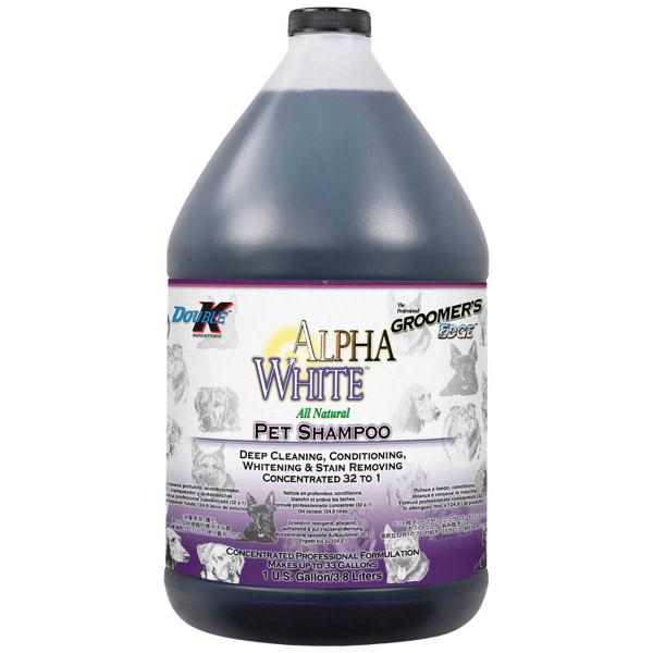 Gallon of Double K Groomer's Edge Alpha White Dog Pet Shampoo