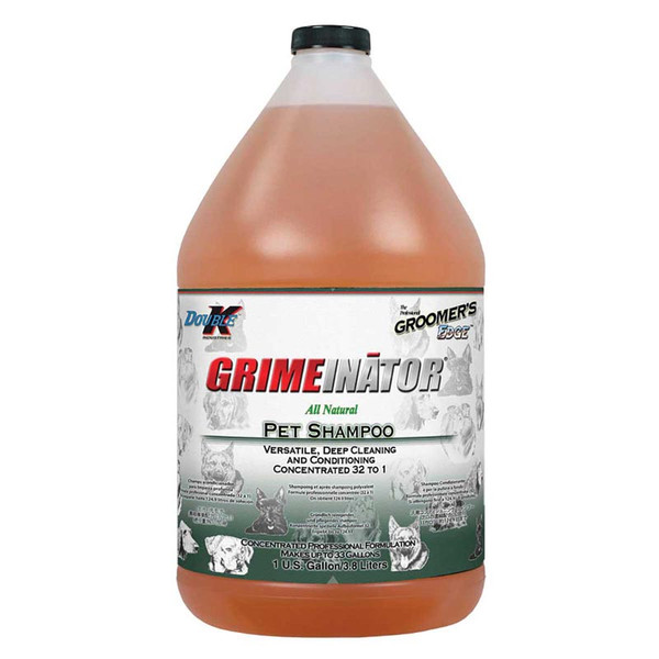 Gallon of Double K Groomer's Edge Grimeinator Grooming Pet Shampoo