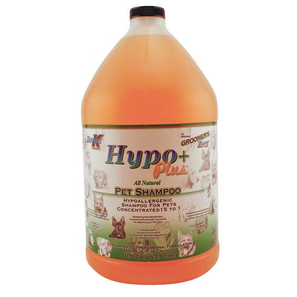 Gallon of Double K Groomer's Edge Hypo Plus Dog Shampoo