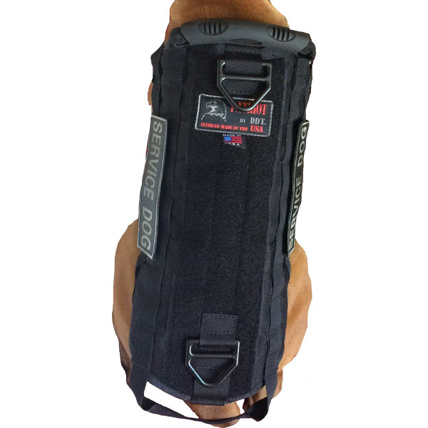 Top view of Medium Black Sgt Stubby Tactical Dog Vest