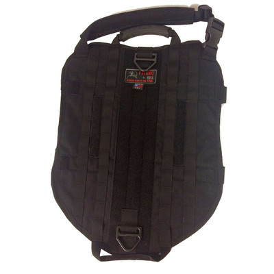 XXL Black Sgt Stubby Tactical Dog Vest