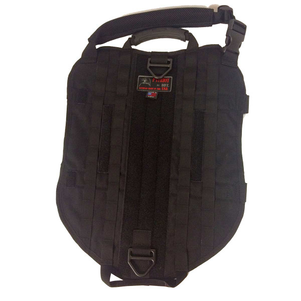 XXXL Black Sgt Stubby Tactical Dog Vest