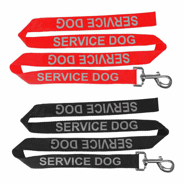 Dogline 6 foot Reflective Service Dog Leash 5/8 inch thick