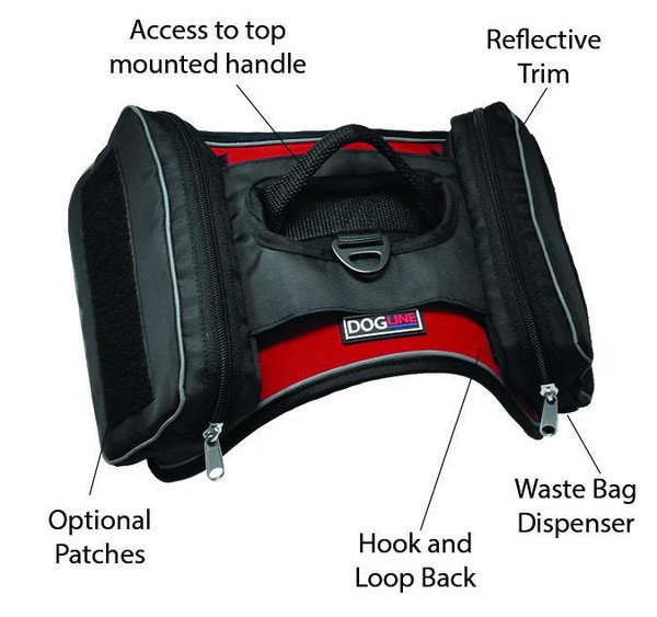 Saddle Bags for dogs Fits Small and Medium Quest Harnesses