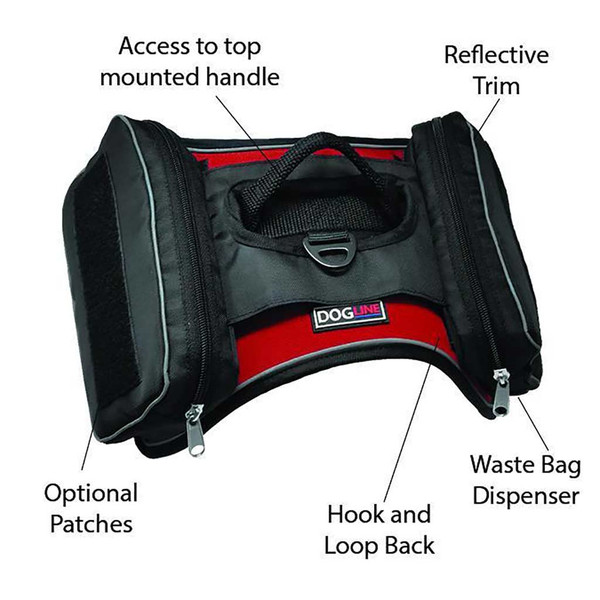 Saddle Bags for Quest Harness Fits L-XL Dogs