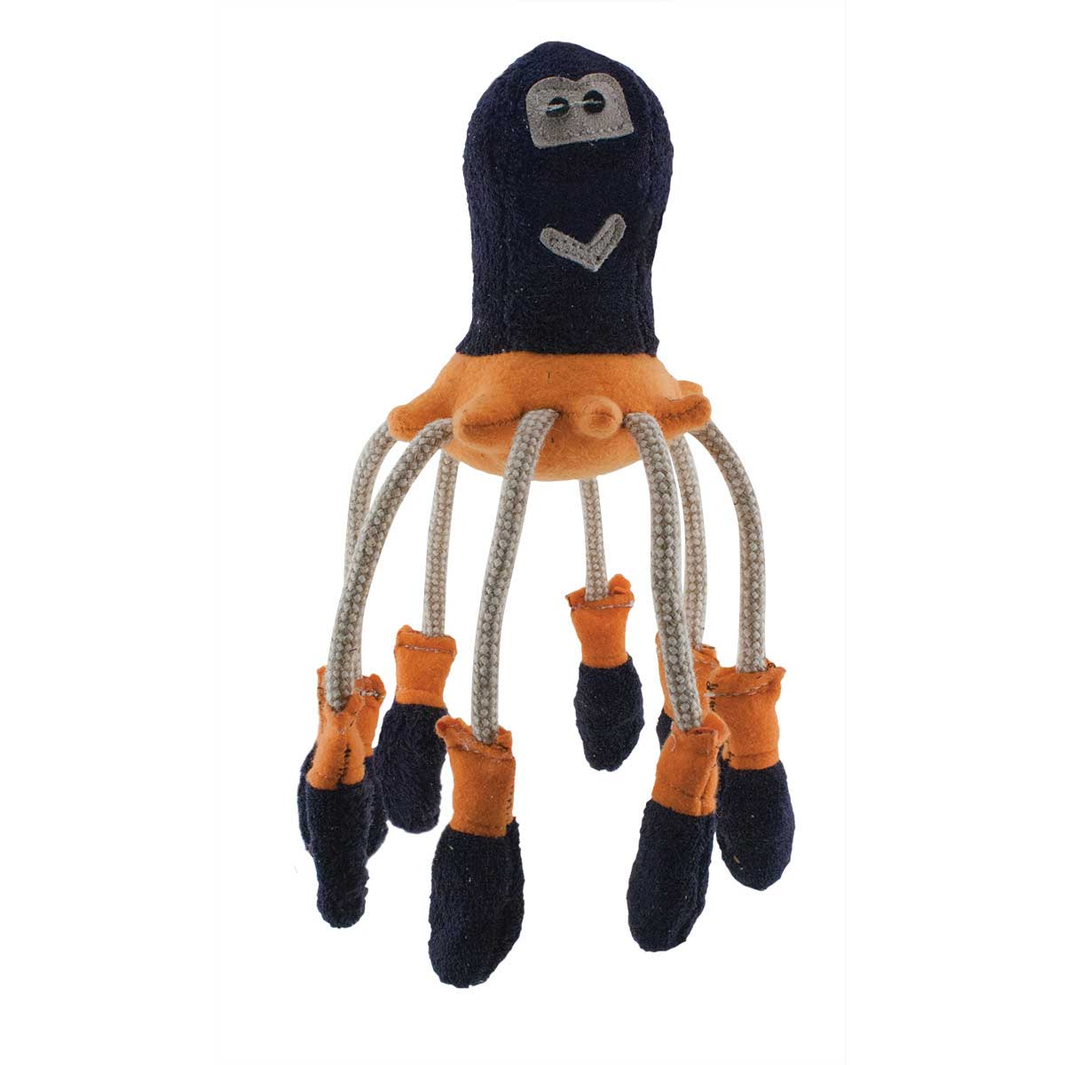 Dawgeee Toy Natural Fleece Octopus With Crinkle Feet 11 inches