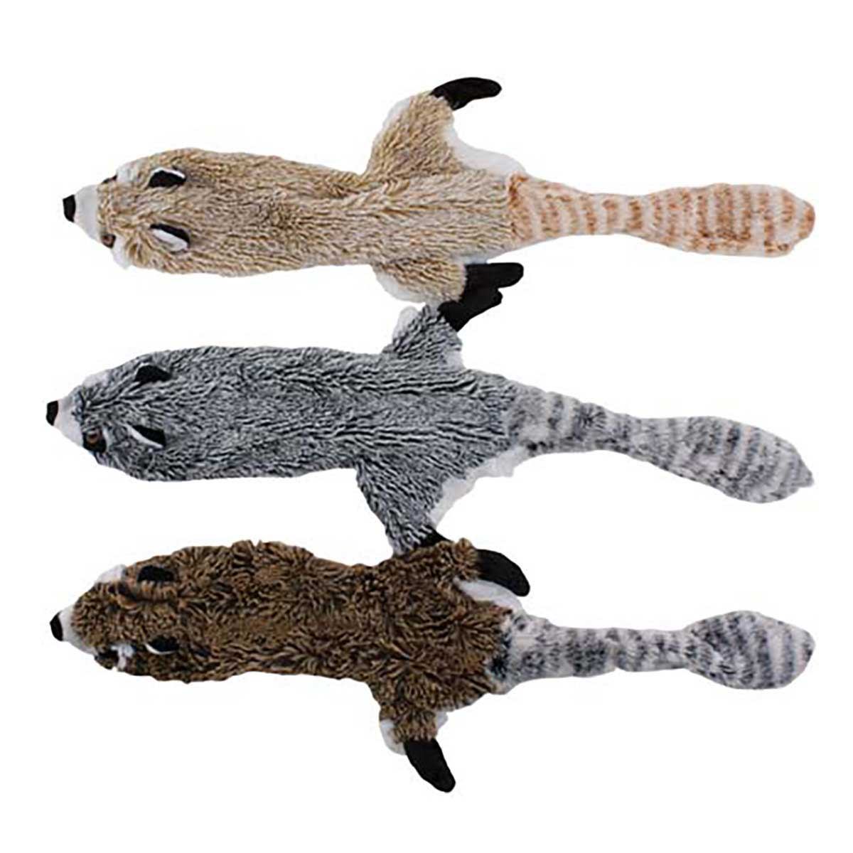 Dawgeee Toys No Fluff Low Stuffing Raccoon Dog Toy 19.5 inches
