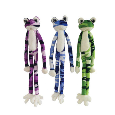 Various Colors - Dawgeee Toys Cool Camo Frog Small 14 inches