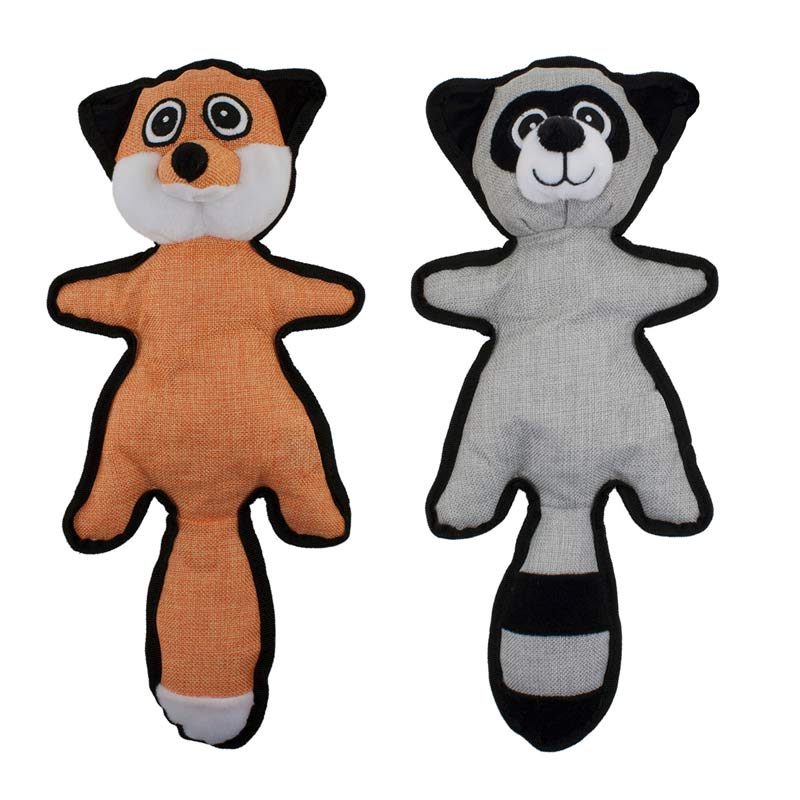 16 inch Dawgeee Toys Raccoon/Fox Assorted Plush Animals