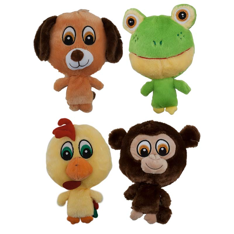 9 inch Dawgeee Toy Big Headed Plush Animals