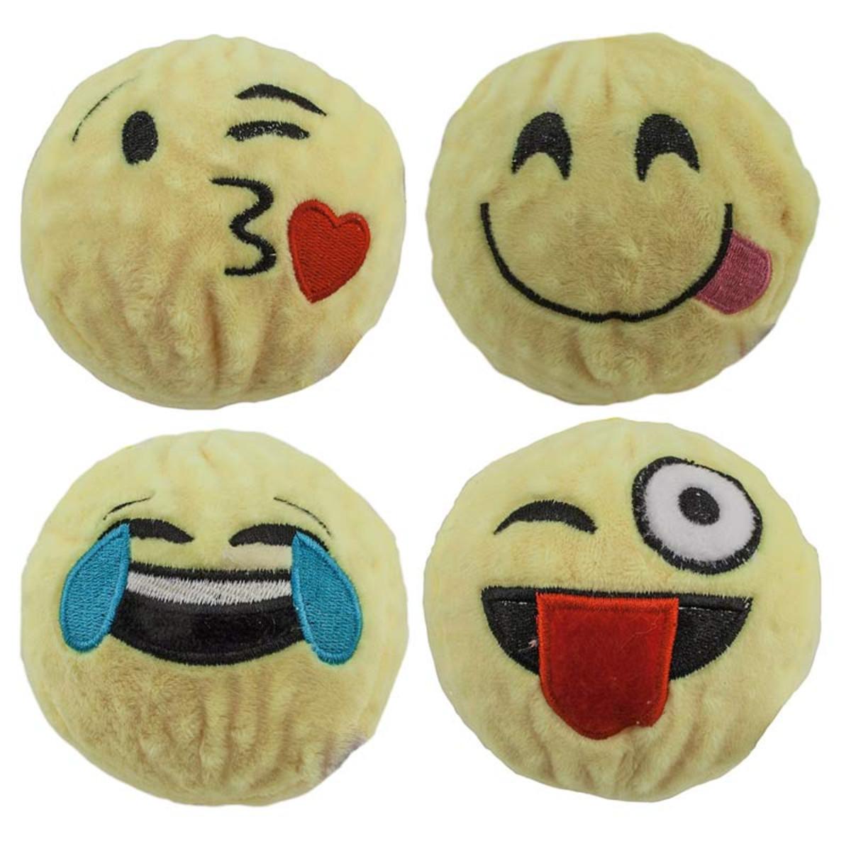4 inch Dawgeee Toy EMOJI Ball - Various Designs