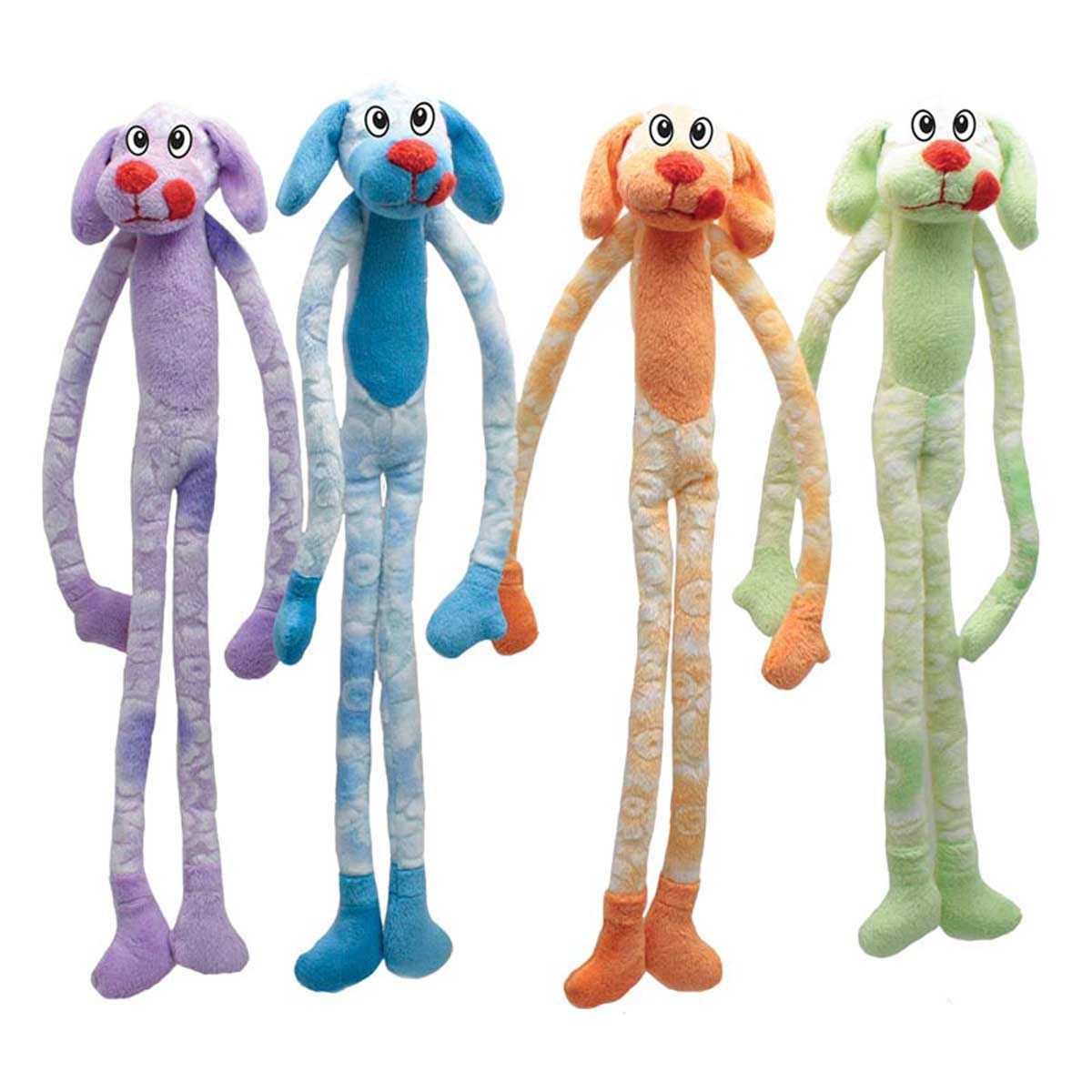 Various Colors of Dawgeee Small Groovy Long Dog - 14 inch - Toys for Dogs