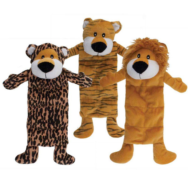 Dawgeee Toy Quilted Jungle Animals 12 inch - for Medium and Large Dogs