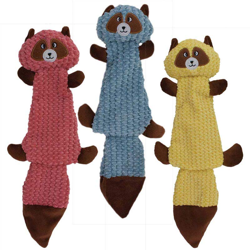 18 inch Dawgeee Toy Raccoons for Larger Dogs